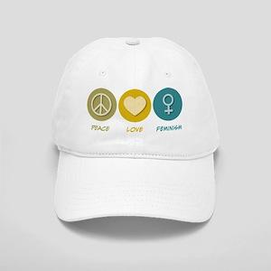 Peace Love Feminism Cap