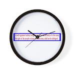 Infringement-2b Wall Clock