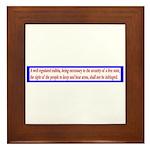 Infringement-2b Framed Tile