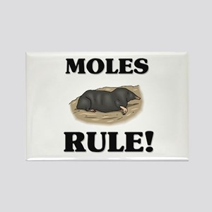 Moles Rule! Rectangle Magnet