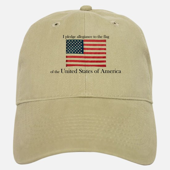 Pledge of Allegiance Baseball Baseball Cap