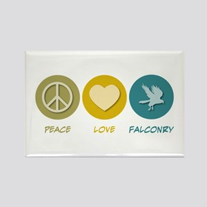 Peace Love Falconry Rectangle Magnet