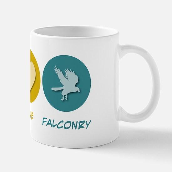 Peace Love Falconry Mug
