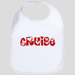 Cruise Surname Heart Design Baby Bib