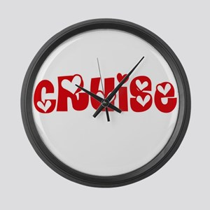 Cruise Surname Heart Design Large Wall Clock