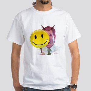 Behind the Smiley Face - White T-Shirt