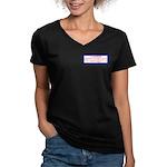 INfringement-4b Women's V-Neck Dark T-Shirt
