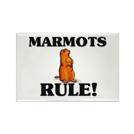 Marmots Rule! Rectangle Magnet (10 pack)