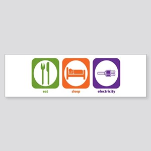 Eat Sleep Electricity Bumper Sticker