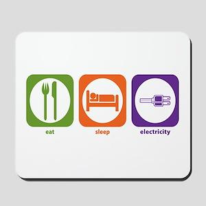 Eat Sleep Electricity Mousepad