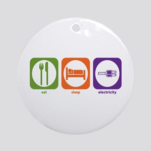 Eat Sleep Electricity Ornament (Round)