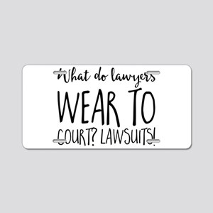 What do lawyers wear to cou Aluminum License Plate