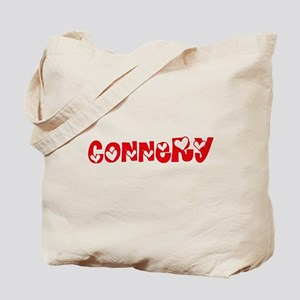 Connery Surname Heart Design Tote Bag