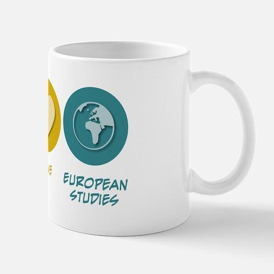 Peace Love European Studies Mug