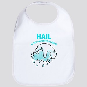 Hail is My Favorite Plague - Funny Pesach Baby Bib