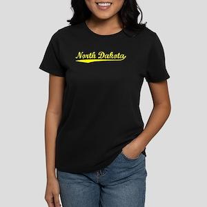 Vintage North Dakota (Gold) Women's Dark T-Shirt