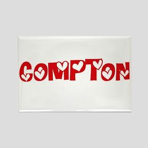 Compton Surname Heart Design Magnets