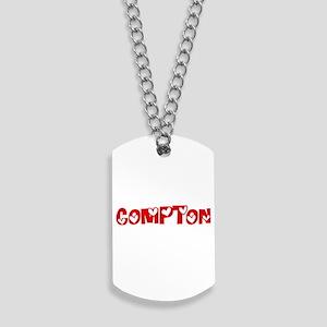 Compton Surname Heart Design Dog Tags