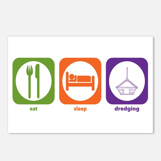 Eat Sleep Dredging Postcards (Package of 8)