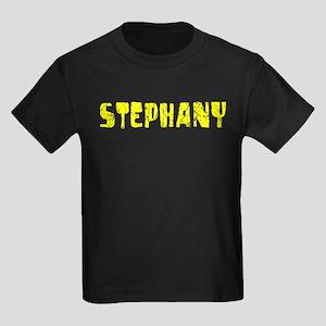 Stephany Faded (Gold) Kids Dark T-Shirt