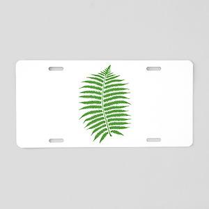Fern Aluminum License Plate