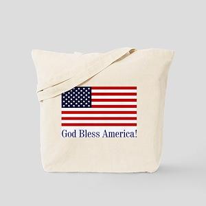 God Bless America Tote Bag
