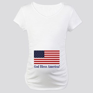 God Bless America Maternity T-Shirt