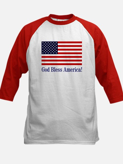 God Bless America Kids Baseball Jersey