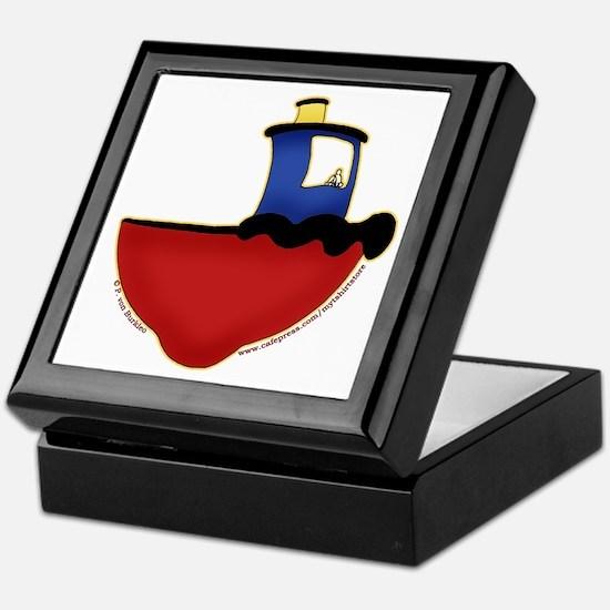 Cute Tugboat Picture 2 Keepsake Box