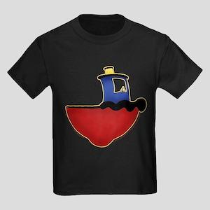 Cute Tugboat Picture 2 Kids Dark T-Shirt