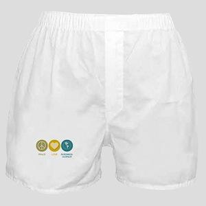 Peace Love Environmental Science Boxer Shorts