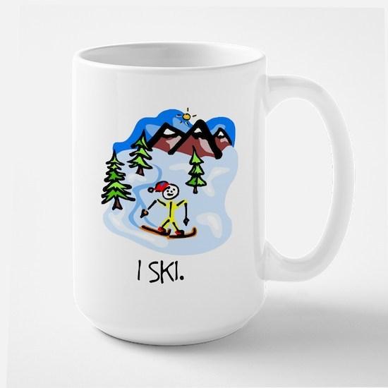 I Ski Stick Figure Mugs