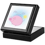 Weird Cartoon Flying Pig Tile Box - Inspirational!