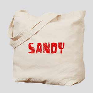 Sandy Faded (Red) Tote Bag
