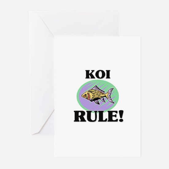 Koi Rule! Greeting Cards (Pk of 10)