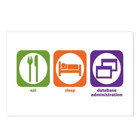 Eat Sleep Database Administration Postcards (Packa
