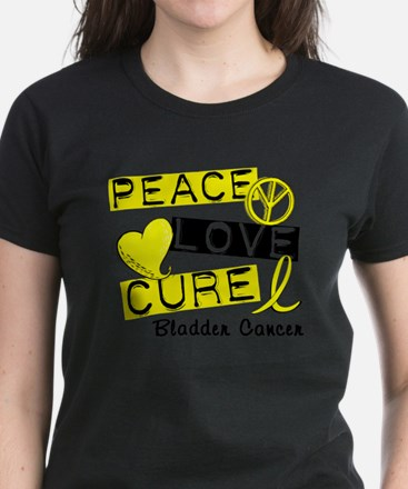PEACE LOVE CURE Bladder Cancer (L1) T-Shirt