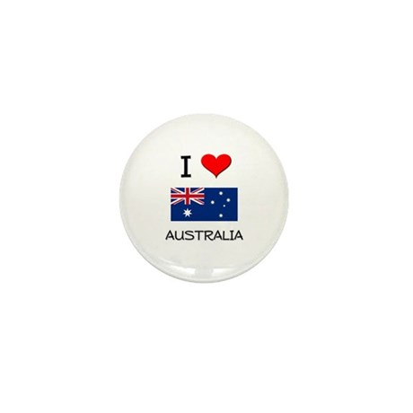 I Love Australia Mini Button (10 pack)