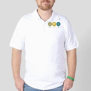 Peace Love EEG Golf Shirt