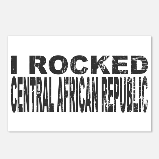 I Rocked Central African Republic Postcards (Packa