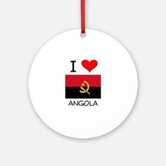I Love Angola Ornament (Round)