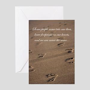 footprints_card Greeting Cards