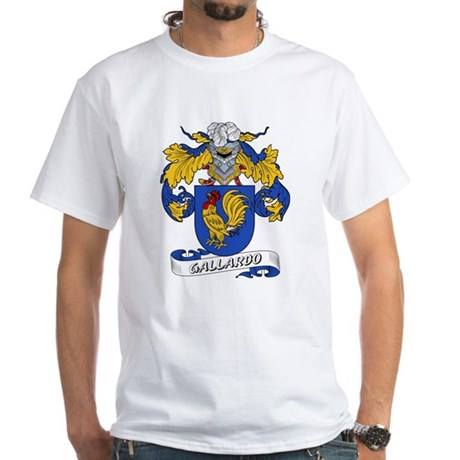 Gallardo Family Crest White T-Shirt