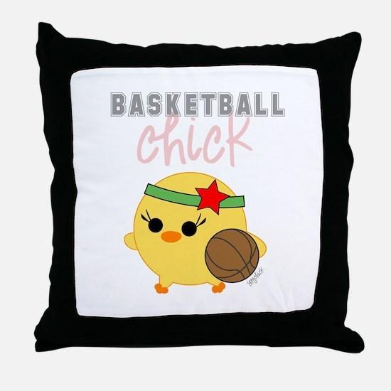 Basketball Chick Throw Pillow
