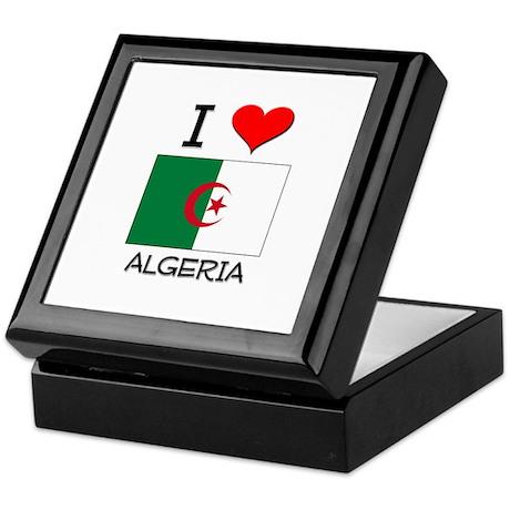 I Love Algeria Keepsake Box