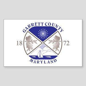 GARRETT-COUNTY-SEAL Rectangle Sticker