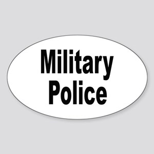 Military Police Oval Sticker