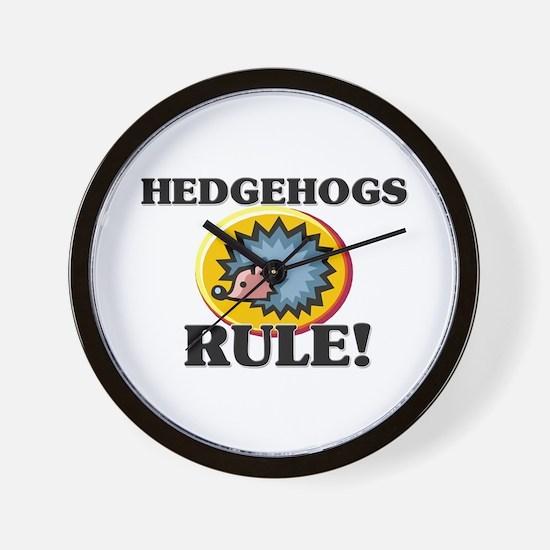 Hedgehogs Rule! Wall Clock