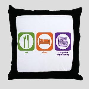 Eat Sleep Computer Engineering Throw Pillow