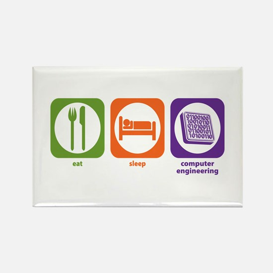 Eat Sleep Computer Engineering Rectangle Magnet
